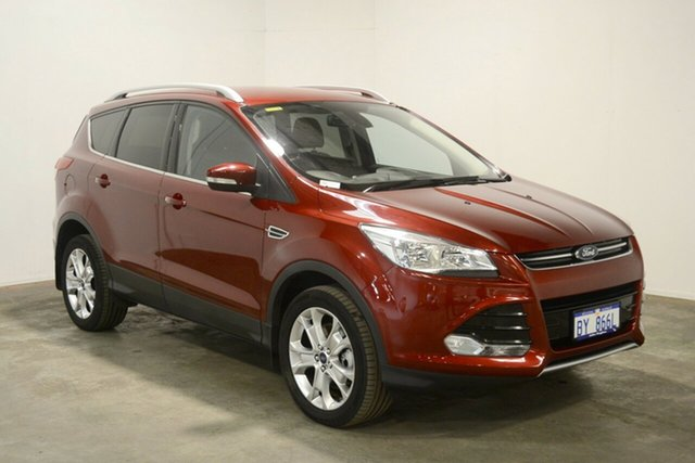 Used Ford Kuga TF MY16 Trend PwrShift AWD, 2015 Ford Kuga TF MY16 Trend PwrShift AWD Red 6 Speed Sports Automatic Dual Clutch Wagon