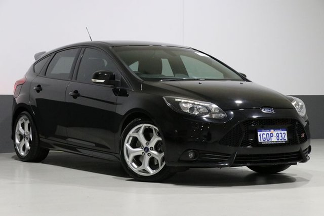 Used Ford Focus LW MK2 MY14 ST, 2014 Ford Focus LW MK2 MY14 ST Black 6 Speed Manual Hatchback