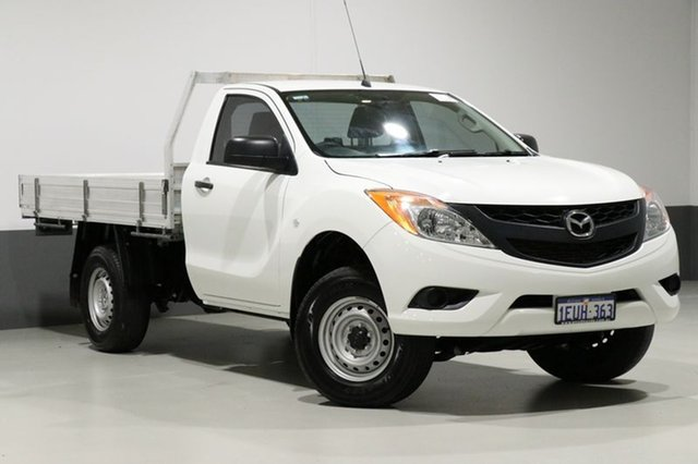 Used Mazda BT-50 MY13 XT (4x4), 2015 Mazda BT-50 MY13 XT (4x4) White 6 Speed Manual Cab Chassis
