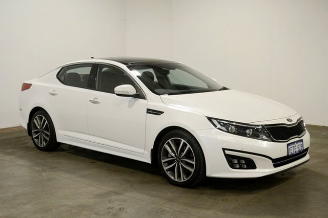 Used Kia Optima TF MY15 Platinum, 2015 Kia Optima TF MY15 Platinum White 6 Speed Sports Automatic Sedan