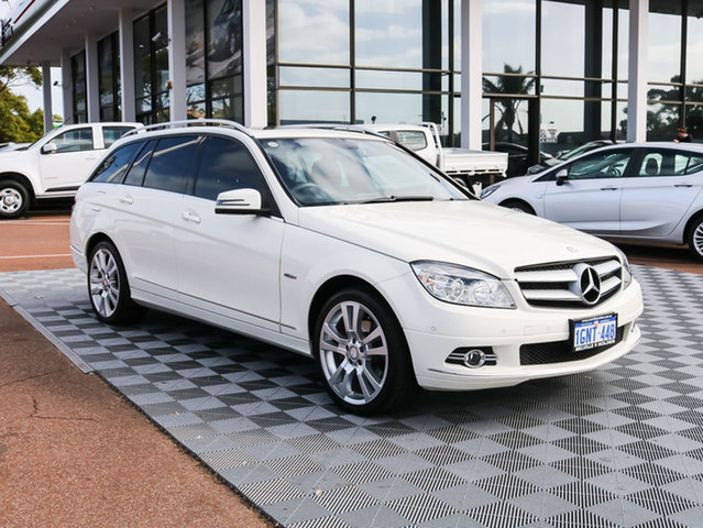 Used Mercedes-Benz C250 W204 MY11 BlueEFFICIENCY Estate 7G-Tronic + Elegance, 2011 Mercedes-Benz C250 W204 MY11 BlueEFFICIENCY Estate 7G-Tronic + Elegance White 7 Speed