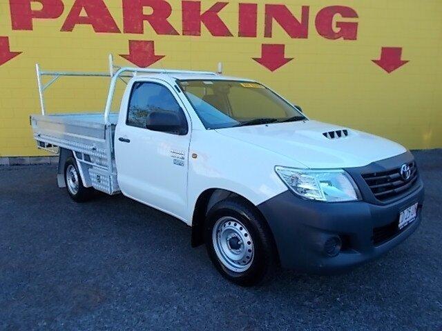 Used Toyota Hilux KUN16R MY12 Workmate 4x2, 2012 Toyota Hilux KUN16R MY12 Workmate 4x2 White 5 Speed Manual Cab Chassis