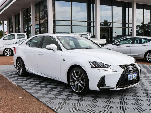 Used Lexus IS300H AVE30R F Sport, 2016 Lexus IS300H AVE30R F Sport White 1 Speed Constant Variable Sedan Hybrid