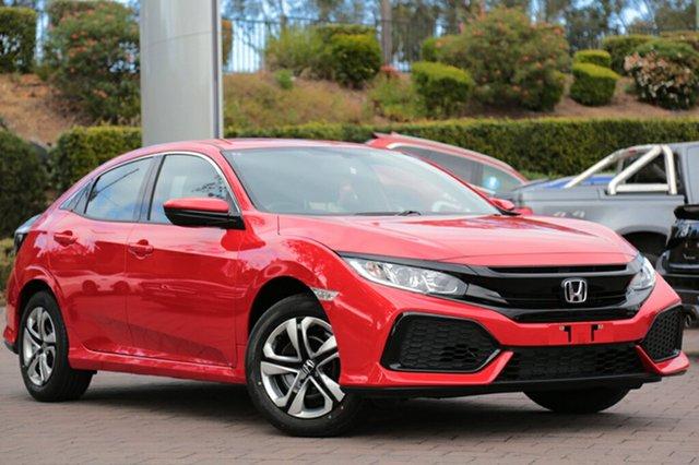 New Honda Civic 10th Gen MY18 VTi, 2018 Honda Civic 10th Gen MY18 VTi Rallye Red 1 Speed Constant Variable Hatchback