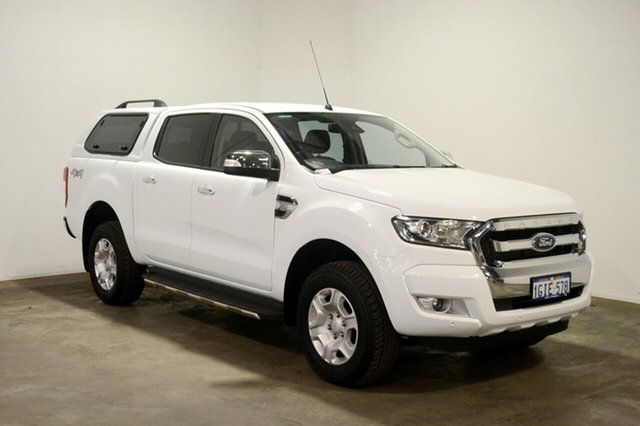 Used Ford Ranger PX MkII XLT Double Cab, 2017 Ford Ranger PX MkII XLT Double Cab White 6 Speed Manual Utility