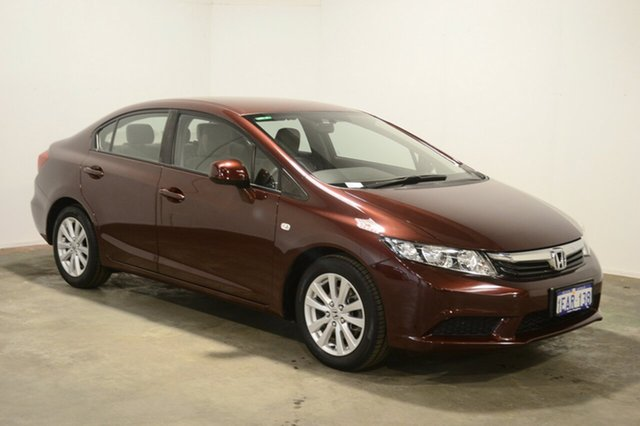 Used Honda Civic 9th Gen VTi-L, 2012 Honda Civic 9th Gen VTi-L Burgundy 5 Speed Sports Automatic Sedan