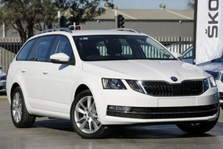2020 Skoda Octavia NE MY20.5 110TSI DSG Moon White 7 Speed Sports Automatic Dual Clutch Wagon.