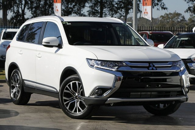 New Mitsubishi Outlander ZL MY18.5 LS 7 Seat (2WD), 2018 Mitsubishi Outlander ZL MY18.5 LS 7 Seat (2WD) White Continuous Variable Wagon