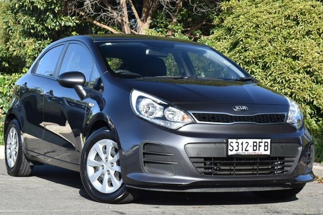 Used Kia Rio UB MY15 S, 2015 Kia Rio UB MY15 S Graphite 4 Speed Sports Automatic Hatchback