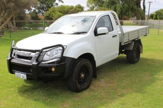 2012 Isuzu D-MAX MY12 SX White 5 Speed Manual Cab Chassis.
