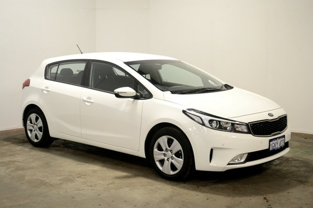 Used Kia Cerato YD MY18 S, 2018 Kia Cerato YD MY18 S White 6 Speed Sports Automatic Hatchback