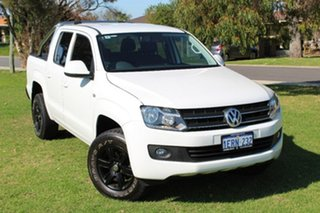 2015 Volkswagen Amarok 2H MY15 TDI400 4Mot Trendline Candy White 6 Speed Manual Utility.