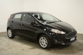 2016 Ford Fiesta WZ Ambiente PwrShift Panther Black 6 Speed Sports Automatic Dual Clutch Hatchback.