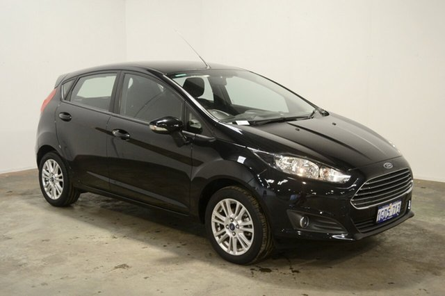 Used Ford Fiesta WZ Ambiente PwrShift, 2016 Ford Fiesta WZ Ambiente PwrShift Panther Black 6 Speed Sports Automatic Dual Clutch Hatchback