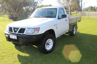 1999 Nissan Patrol GU DX White 5 Speed Manual Cab Chassis.