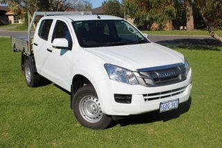 2016 Isuzu D-MAX MY15.5 SX Crew Cab High Ride White 5 Speed Sports Automatic Cab Chassis.