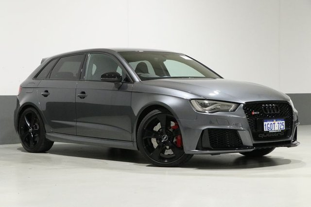 Used Audi RS 3 8V MY17 Sportback Quattro, 2016 Audi RS 3 8V MY17 Sportback Quattro Grey 7 Speed Auto Dual Clutch Hatchback