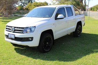 2015 Volkswagen Amarok 2H MY15 TDI400 4Mot Trendline White 6 Speed Manual Utility.