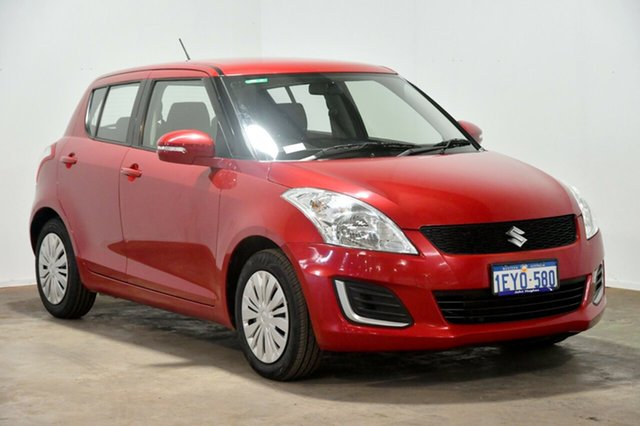 Used Suzuki Swift FZ MY15 GL, 2016 Suzuki Swift FZ MY15 GL Red 4 Speed Automatic Hatchback
