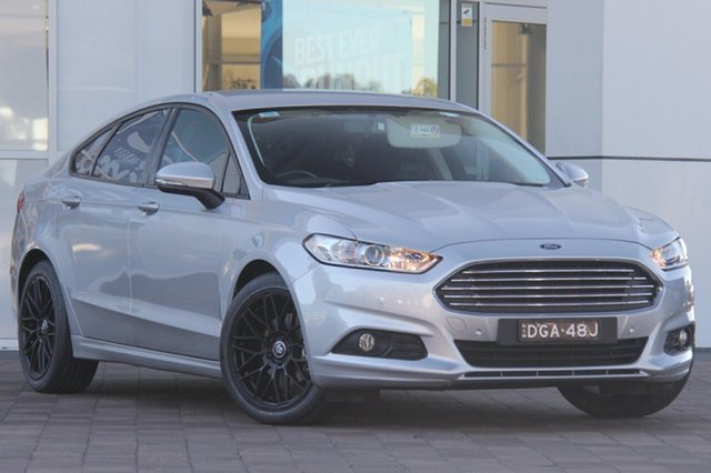 Used Ford Mondeo MD Ambiente PwrShift, 2016 Ford Mondeo MD Ambiente PwrShift Moondust Silver 6 Speed Sports Automatic Dual Clutch Hatchback