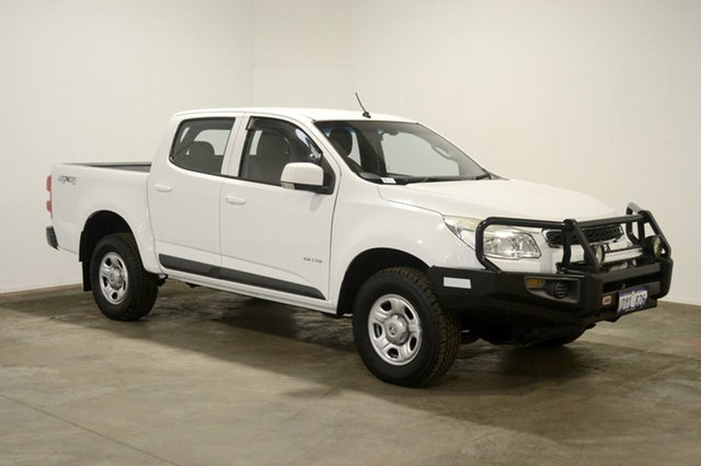 Used Holden Colorado RG MY13 LX Crew Cab, 2012 Holden Colorado RG MY13 LX Crew Cab White 5 Speed Manual Utility