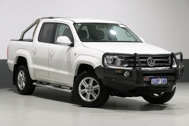 Used Volkswagen Amarok 2H MY14 TDI420 Highline (4x4), 2014 Volkswagen Amarok 2H MY14 TDI420 Highline (4x4) White 8 Speed Automatic Dual Cab Utility