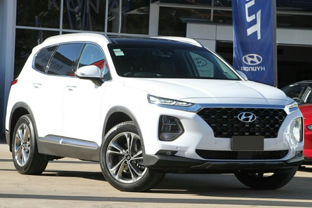 New Hyundai Santa Fe TM MY19 Highlander, 2018 Hyundai Santa Fe TM MY19 Highlander White Cream 8 Speed Sports Automatic Wagon