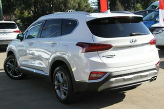 2018 Hyundai Santa Fe TM MY19 Highlander White Cream 8 Speed Sports Automatic Wagon.