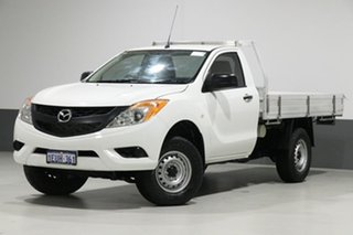 2015 Mazda BT-50 MY13 XT (4x4) White 6 Speed Manual Cab Chassis.