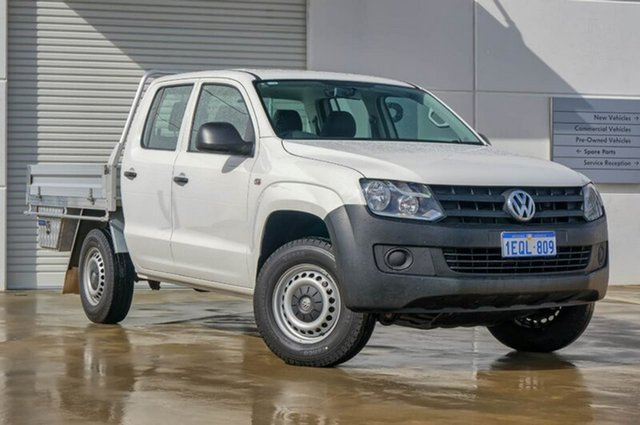 Used Volkswagen Amarok 2H MY14 TDI420 4Motion Perm, 2013 Volkswagen Amarok 2H MY14 TDI420 4Motion Perm White 8 Speed Automatic Cab Chassis