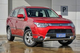 2013 Mitsubishi Outlander ZJ MY14 ES 4WD Red 6 Speed Constant Variable Wagon.