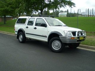 2006 Holden Rodeo RA MY06 LX Crew Cab White 5 Speed Manual Utility.