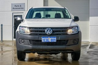 2013 Volkswagen Amarok 2H MY14 TDI420 4Motion Perm White 8 Speed Automatic Cab Chassis