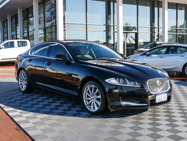 Used Jaguar XF X250 MY15 Premium Luxury, 2015 Jaguar XF X250 MY15 Premium Luxury Black 8 Speed Sports Automatic Sedan