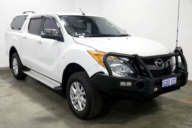 Used Mazda BT-50 UP0YF1 GT, 2012 Mazda BT-50 UP0YF1 GT White 6 Speed Sports Automatic Utility