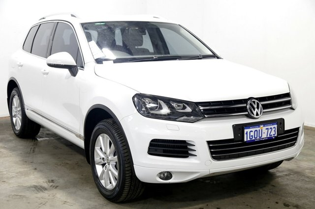 Used Volkswagen Touareg 7P MY14 150TDI Tiptronic 4MOTION, 2014 Volkswagen Touareg 7P MY14 150TDI Tiptronic 4MOTION Pure White 8 Speed Sports Automatic Wagon