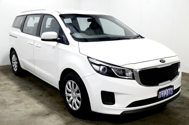 Used Kia Carnival YP MY18 S, 2017 Kia Carnival YP MY18 S Clear White 6 Speed Sports Automatic Wagon