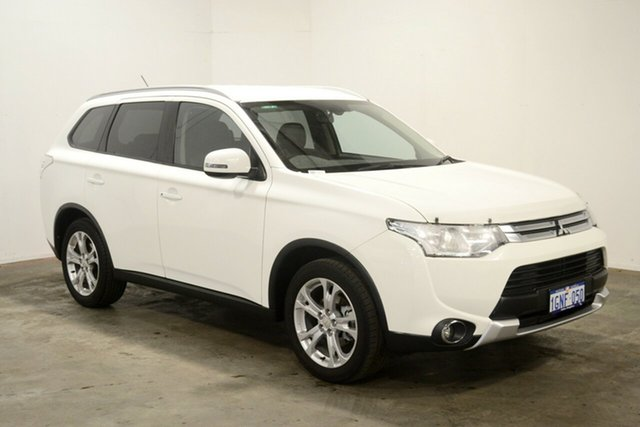 Used Mitsubishi Outlander ZJ MY14.5 LS 2WD, 2014 Mitsubishi Outlander ZJ MY14.5 LS 2WD White 6 Speed Constant Variable Wagon