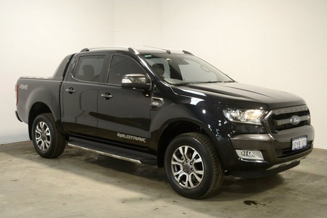 Used Ford Ranger PX MkII Wildtrak Double Cab, 2015 Ford Ranger PX MkII Wildtrak Double Cab Black 6 Speed Sports Automatic Utility