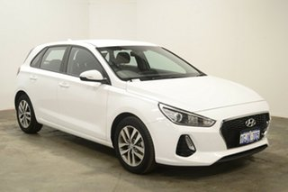 2017 Hyundai i30 PD MY18 Active Polar White 6 Speed Sports Automatic Hatchback