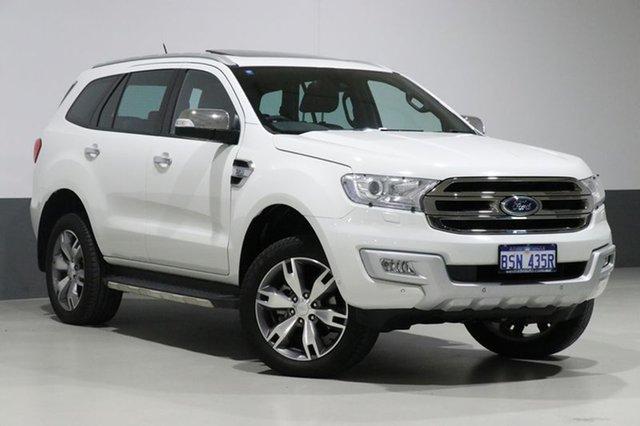 Used Ford Everest UA Titanium, 2016 Ford Everest UA Titanium White 6 Speed Automatic Wagon