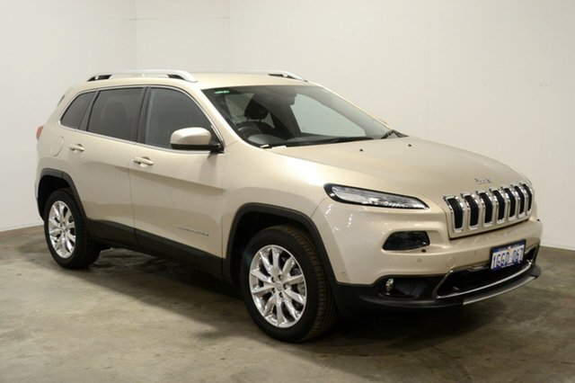 Used Jeep Cherokee KL MY15 Limited, 2015 Jeep Cherokee KL MY15 Limited Cashmere Pearl 9 Speed Sports Automatic Wagon