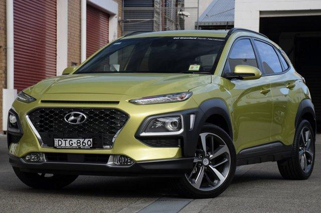 Demo Hyundai Kona OS MY18 Highlander 2WD, 2017 Hyundai Kona OS MY18 Highlander 2WD Acid Yellow 6 Speed Sports Automatic Wagon