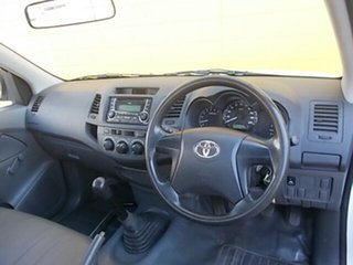 2013 Toyota Hilux TGN16R MY14 Workmate 4x2 White 5 Speed Manual Cab Chassis