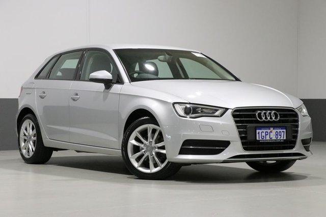 Used Audi A3 8V Sportback 1.6 TDI Attraction, 2013 Audi A3 8V Sportback 1.6 TDI Attraction Silver 7 Speed Auto Direct Shift Hatchback