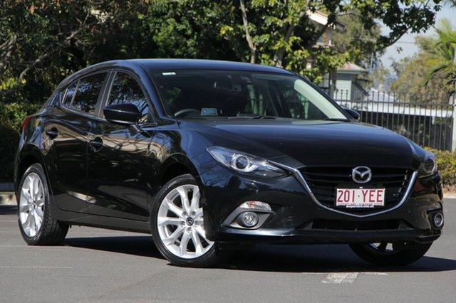Used Mazda 3 BM5438 SP25 SKYACTIV-Drive GT, 2015 Mazda 3 BM5438 SP25 SKYACTIV-Drive GT Black 6 Speed Sports Automatic Hatchback