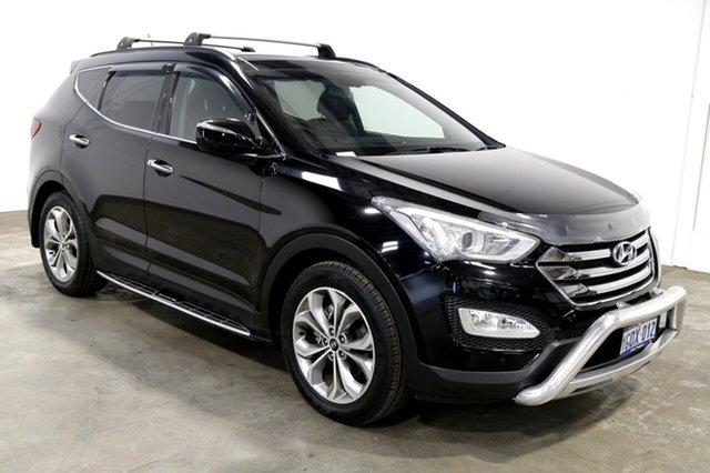 Used Hyundai Santa Fe DM MY13 Highlander, 2013 Hyundai Santa Fe DM MY13 Highlander Black 6 Speed Sports Automatic Wagon
