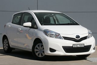 2014 Toyota Yaris NCP130R YR White 5 Speed Manual Hatchback.