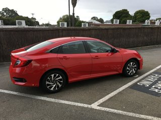 2017 Honda Civic 10th Gen MY16 VTi-S Rallye Red 1 Speed Constant Variable Sedan.