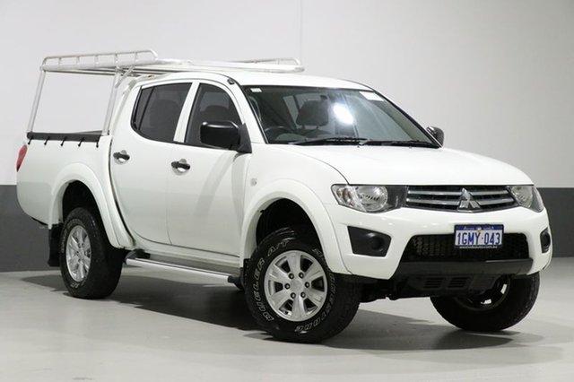 Used Mitsubishi Triton MN MY13 GLX (4x4), 2013 Mitsubishi Triton MN MY13 GLX (4x4) White 4 Speed Automatic 4x4 Double Cab Utility